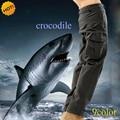 Alta Qualidade Homens Largas Camuflagem ESDY Marca Tubarão Pele Soft Shell Fleece Engrossar Bolso Com Zíper Calças Stretch 9 cores À Prova D' Água