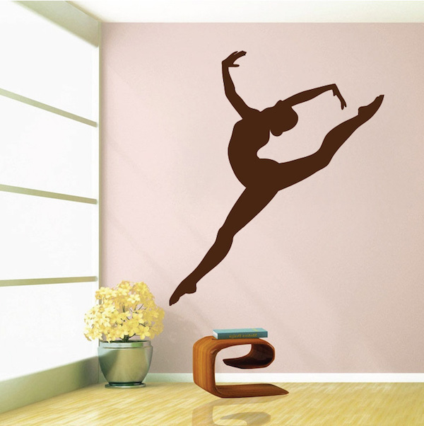 gymnastics girl wall decal living room sofa background decoration