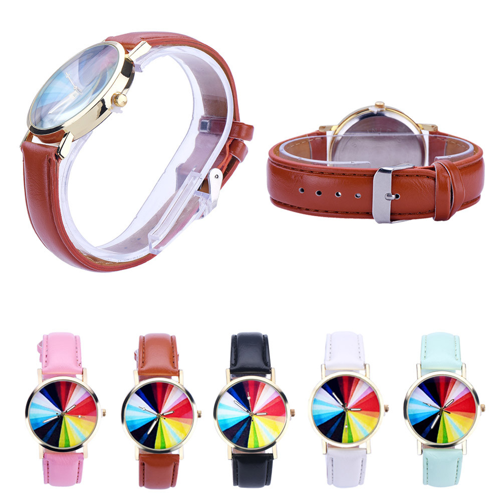 Women Color Pattern Leather Analog Quartz Wrist Watch women  fashion watch  curren watches men Ladies Watches D7 adjustable wrist and forearm splint external fixed support wrist brace fixing orthosisfit for men and women