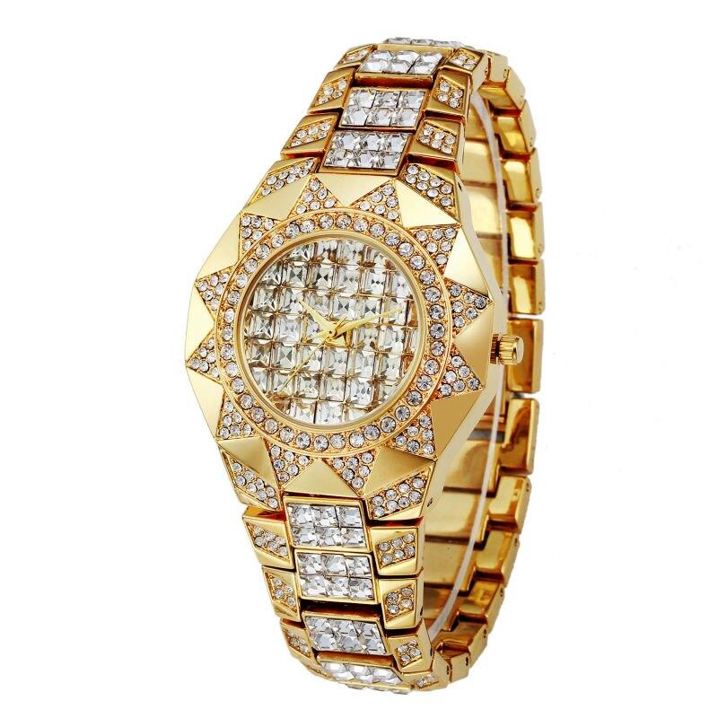 Prix pour Soleil femme montres 2016 marque de luxe or strass Cristal Diamant quartz montre dames montre-bracelet 2016 nouveau relogio feminino