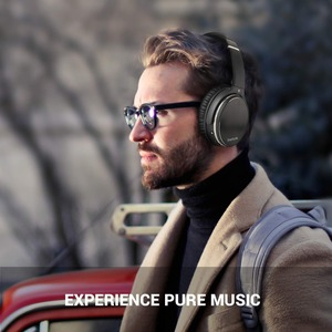 Image 2 - Oneodio Active Noise Cancelling Hoofdtelefoon Bluetooth 4.2 Draadloze Hoofdtelefoon Met Apt X Lage Latency Opvouwbare Headset Voor Pc Tv