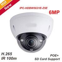 New DH 6mp IP カメラ IPC-HDBW5631E-Z5E WDR IR ドームネットワークカメラサポート SD カード H.265 7 ミリメートル-35 ミリメートル 5X ズームレンズ IR 100m カメラ