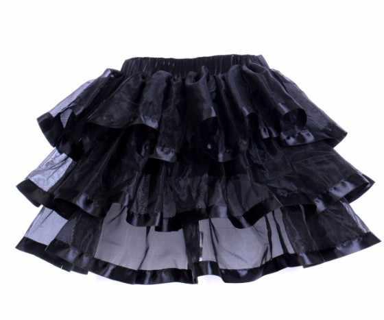 בתוספת חצאיות גודל ראפלס שכבות אורגנזה רצועת הכלים Trim שחור אדום בוגר סקסי פאנק נשים חצאית טוטו Pettiskirts