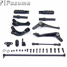 PAZOMA New Black Forward Controls Kit Pegs Levers Linkage For Harley Sportster Nightster - XL 1200N 2009-2011 Free Shipping