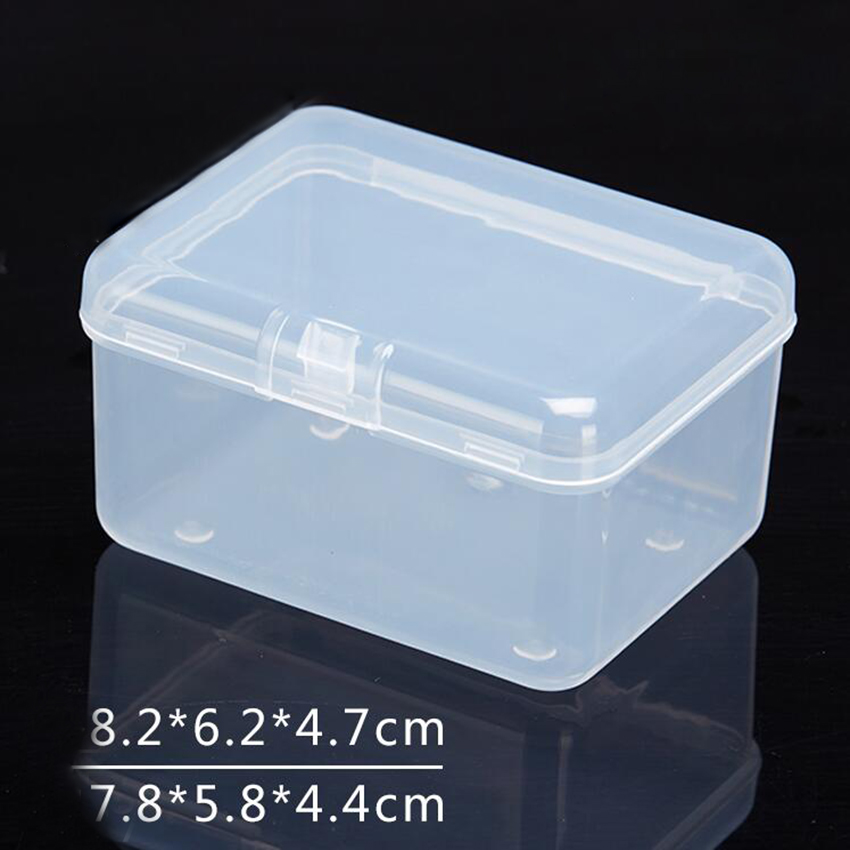 Transparent Plastic Storage Box Clear Square Multipurpose Display Case Plastic Jewelry Storage Boxes HOT 8.2*6.2*4.7mm