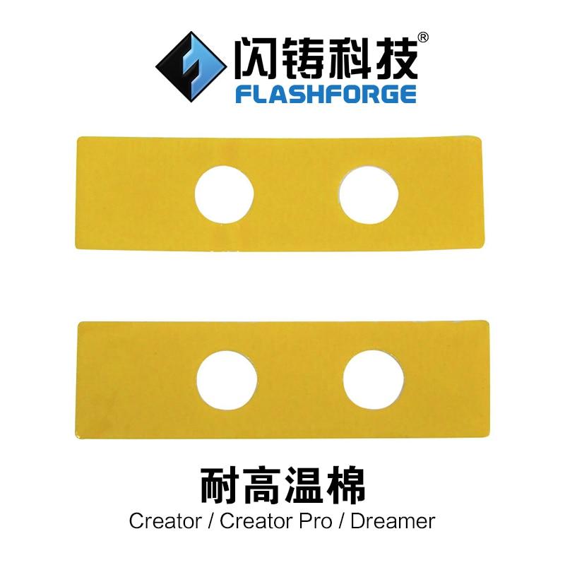 Flashforge 3D printer parts Creator Pro dreamer nozzle temperature cotton Replacement Ceramic Insulation Tape