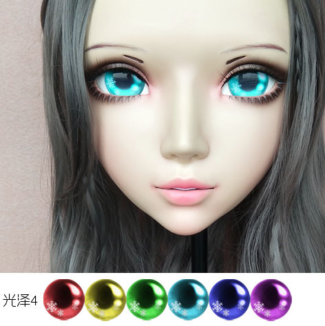 Sweet Girl Resin Half Head Bjd Kigurumi Mask With Eyes Cosplay Anime Role Lolita Mask Crossdress Doll To Produce An Effect Toward Clear Vision Learned gl064