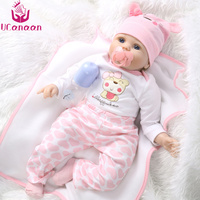 55cm Realistic Reborn Baby Doll Soft Silicone Stuffed Lifelike Baby Doll Toy Ethnic Doll For Kids Birthday Christmas Gifts