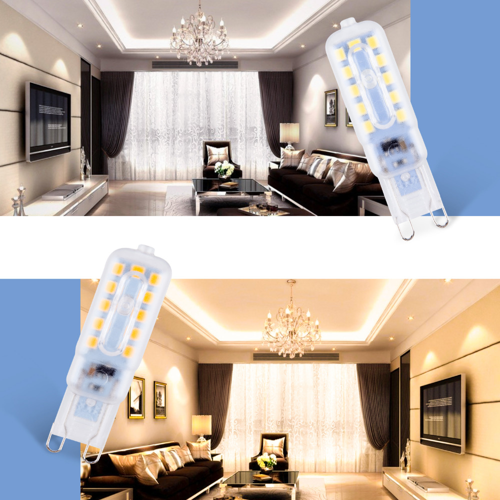 G9 LED Lamp Mini Corn Light Bulb 220V Bombilla g9 3W 5W Led Spotlight 2835SMD 14 22leds Crystal Chandelier Replace Halogen Lamp in LED Bulbs Tubes from Lights Lighting