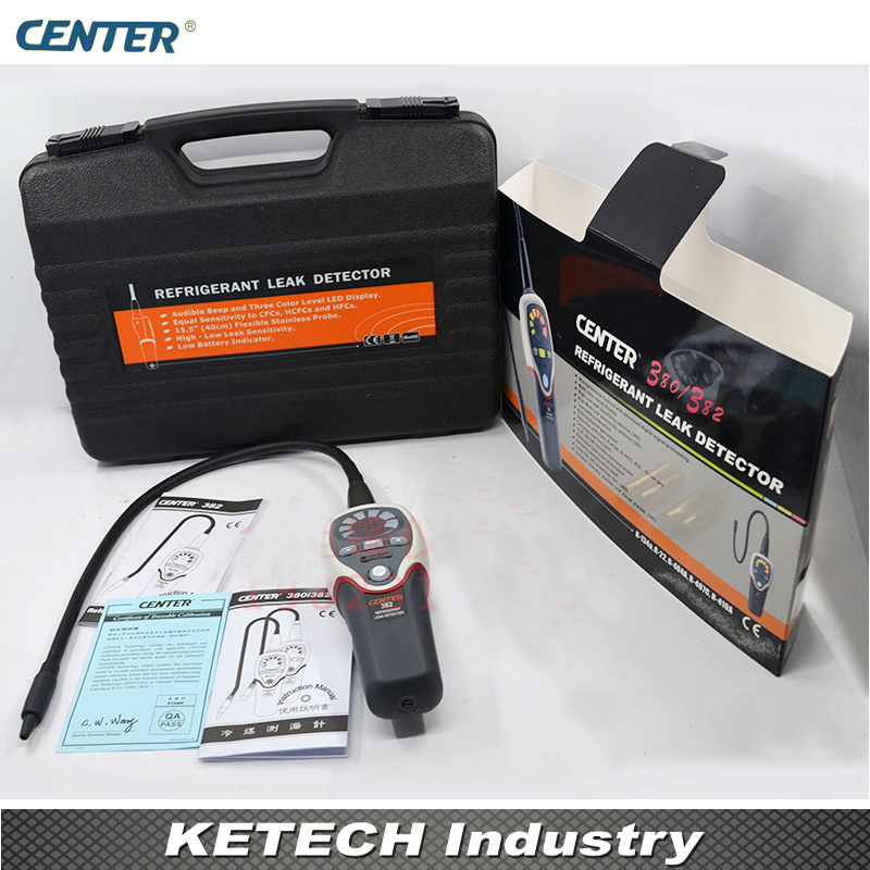 Handheld Digital Halide Leak Detector Halogen Leak Tester CENTER382
