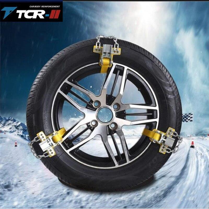 Correia antiderrapante do pneu da aplicação fácil da corrente antiderrapante do carro durável do aço de manganês para a estrada da areia do gelo da estrada da neve