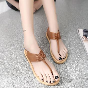 mokingtop womens sandals flat summer  Women Pinch Flat-Bottomed Roman Sandals Anti  Flat Sandals ## римские сандали