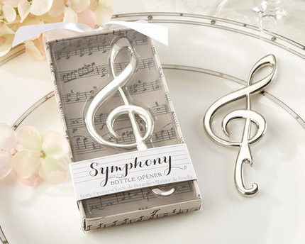 Wholesale Unique Wedding Favors Symphony Chrome Music Note Bottle Opener Gift For Guests