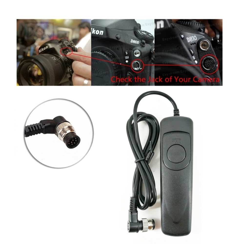 PHOLSY 2.5mm N10 Off-Camera Remote Shutter Release Connecting Cord Cable for Nikon Cameras Replacement Nikon MC-DC2 Cable