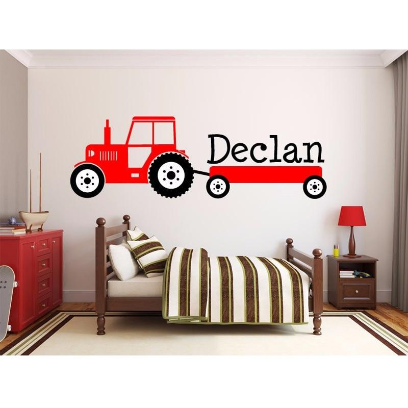 Aliexpress.com : Buy Boys Tractor Name Monogram Decal