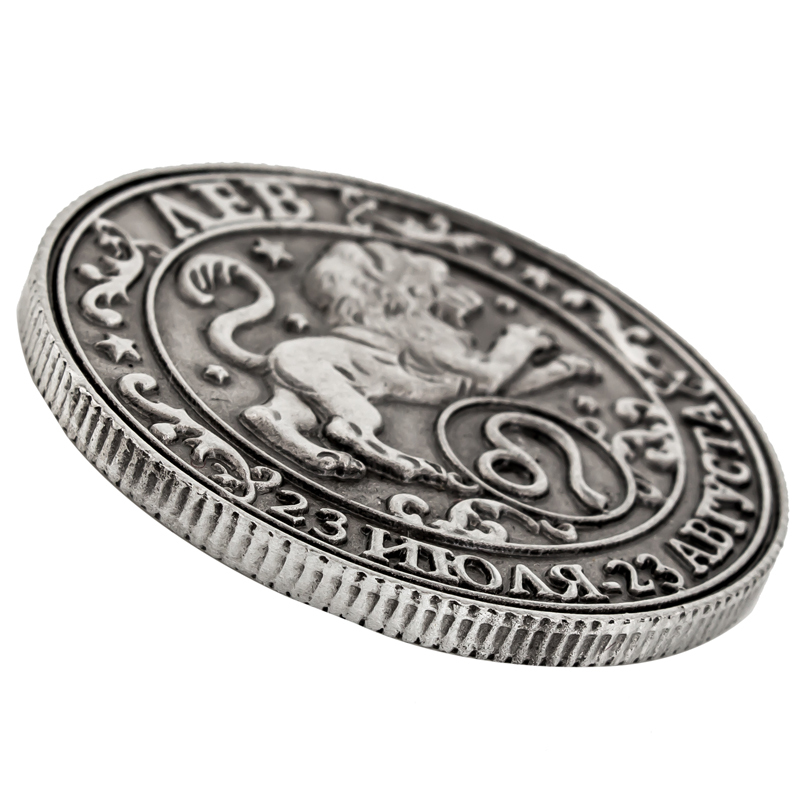[ Leo ] unique box. Replica coin purse metal crafts lion horoscope Coin by Zodiac Sign Exclusive starting constellation series