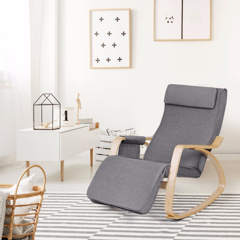 Giantex Rocking Chair Lounge Chair