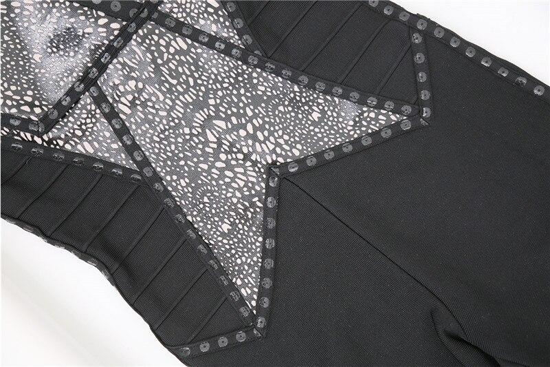 Rayonne Combinaisons Manches Noir Barboteuses Bandage Cou Qualité Moulante Sans Black V Haute v6qw4Yx7Tv