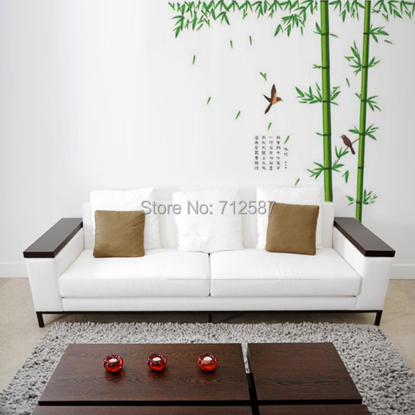 wall sticker,Wall paster/room sticker/house decorative sticker,wall poster.bamboo style,background tree Free Shipping