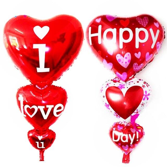 Neues Design 95 50 Cm Roten Herz Liebe Folienballons Ehe