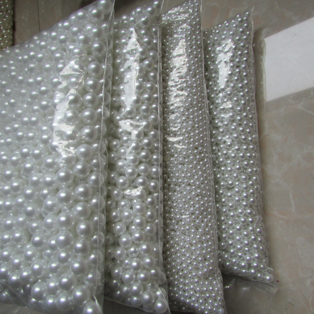 mobile <font><b>phone</b></font> hairdressing <font><b>essential</b></font> 4mm-20mm without holes white pearl DIY originality handwork materia wholesale 500g