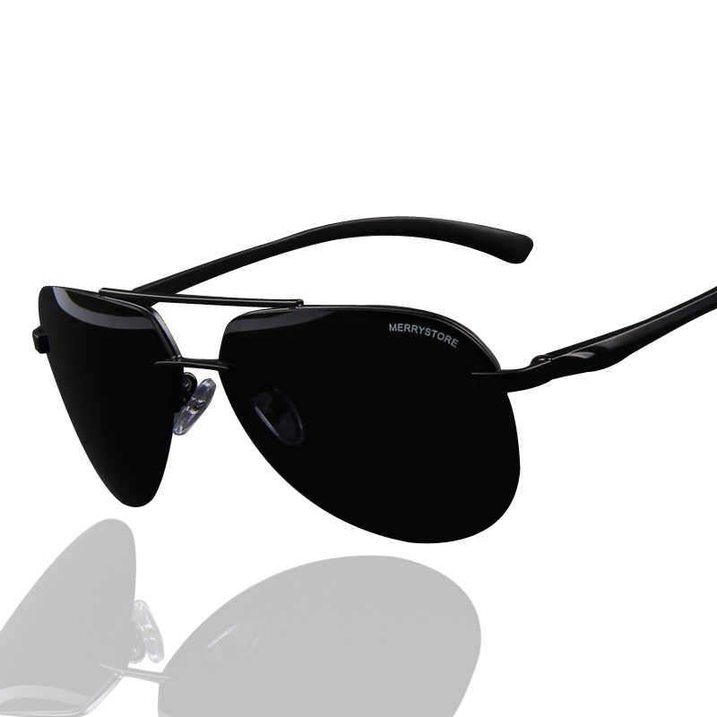 caa425427e MERRY S Brand Design 100% Polarized Aluminum Alloy Frame Sunglasses Men  Fashion Men s Driving Sunglasses S