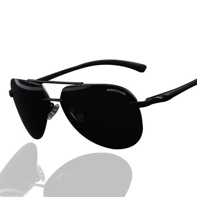 fcb7fb94bb7c66 MERRY S Marque Conception 100% Polarisées En Aluminium Alliage Cadre  lunettes de Soleil Hommes De Mode