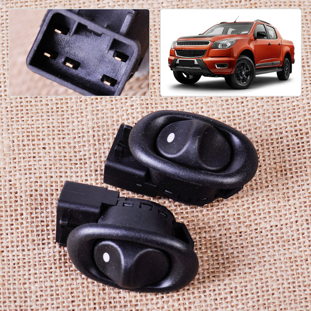 2Pcs Rear Electric Power Window Switch fit for Holden Commodore 4Door Sedan and Wagon VT VY VZ VX Statesman WH 1999 ~ 2001 2002