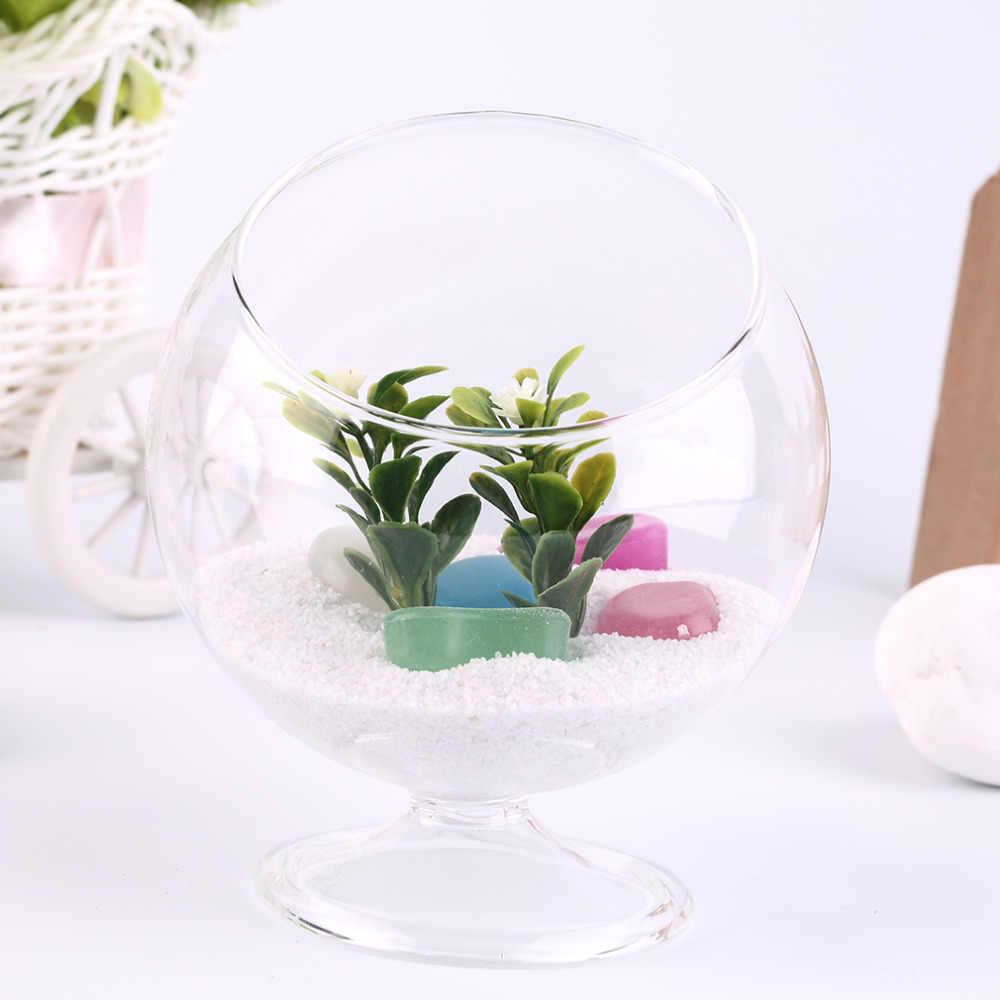 Домашний деко гидропонный Аквариум рыба стеклянная ваза сосуд растение контейнеры для террариума популярный новый Прямая доставка