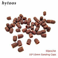 50Pcs/pack 10*15mm Sanding Bands Block Caps With Grip Pedicure Care Tools Drill Polishing Accessories Foot Cuticle Remove Tool