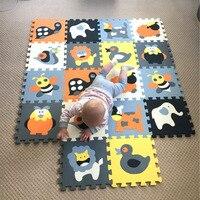 MEIQICOOL 9PCS SET Baby Play Mat Cartoon Eva Foam Puzzle Mat Children Jigsaw Educational Playmat Digits