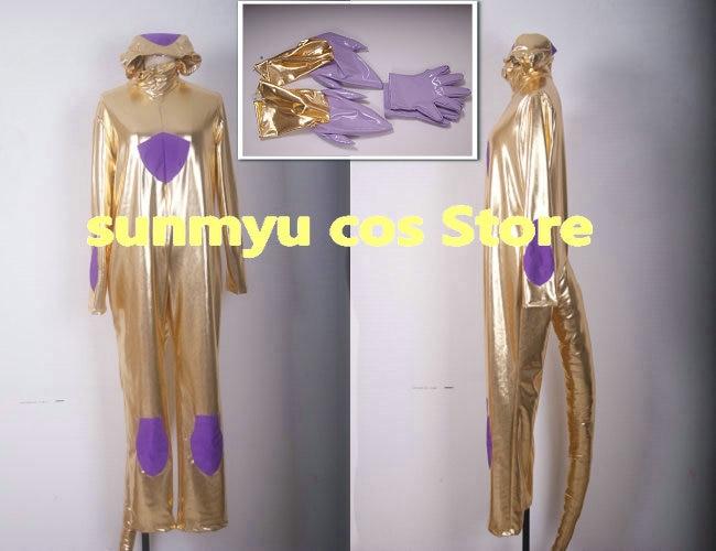 Livraison gratuite! Costume de Cosplay en or Dragon Ball Frieza, taille personnalisable Halloween en gros