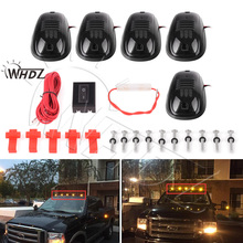 цена на WHDZ 5pcs Amber Yellow LED Cab Roof Top Marker Running Clearance Lights For Ford Truck SUV Pickup 4x4 Top Marker Running Right