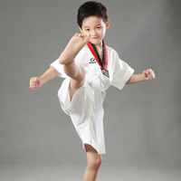 Wholesale Children Kids Child Cotton Dobok Taekwondo Fitness Training Uniforms Tae Kwon Do Long Sleeve Kung