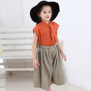 2019 Teen Clothes Suit Elegant Clothing Set For Girls Summer Sailor Collar Children's Clothes 6 8 10 Years Costume For Girls