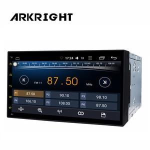 "Image 2 - HD Screen Universal Car Radio DSP 6.95"" 2 Din GPS Wifi Bluetooth Car Recorder Andriod8.1 Automagnitol Carplay Multimedia Player"