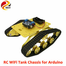 DOIT Remote Control Robot TS300 Shock Absorber Tank Model+ WiFi+ESPduino Development Board+ Motor Driver Board for Arduino(China)