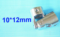 10mm x 12mm OD24mm L55mm single universal joints coupling Stainless steel connector crossing coupler RC Car Boat model wholesale