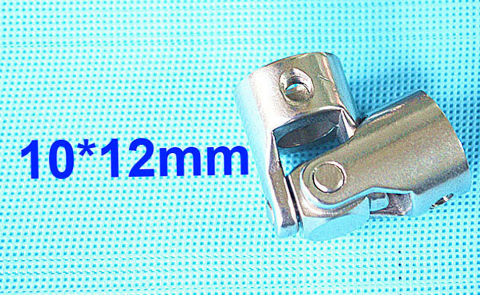 10mm x 12mm OD24mm L55mm single universal joints coupling Stainless steel connector crossing coupler RC Car Boat model wholesale 15mmx15mm od24mm l88mm double universal joints coupling stainless steel connector crossing shaft coupler rc car boat model parts