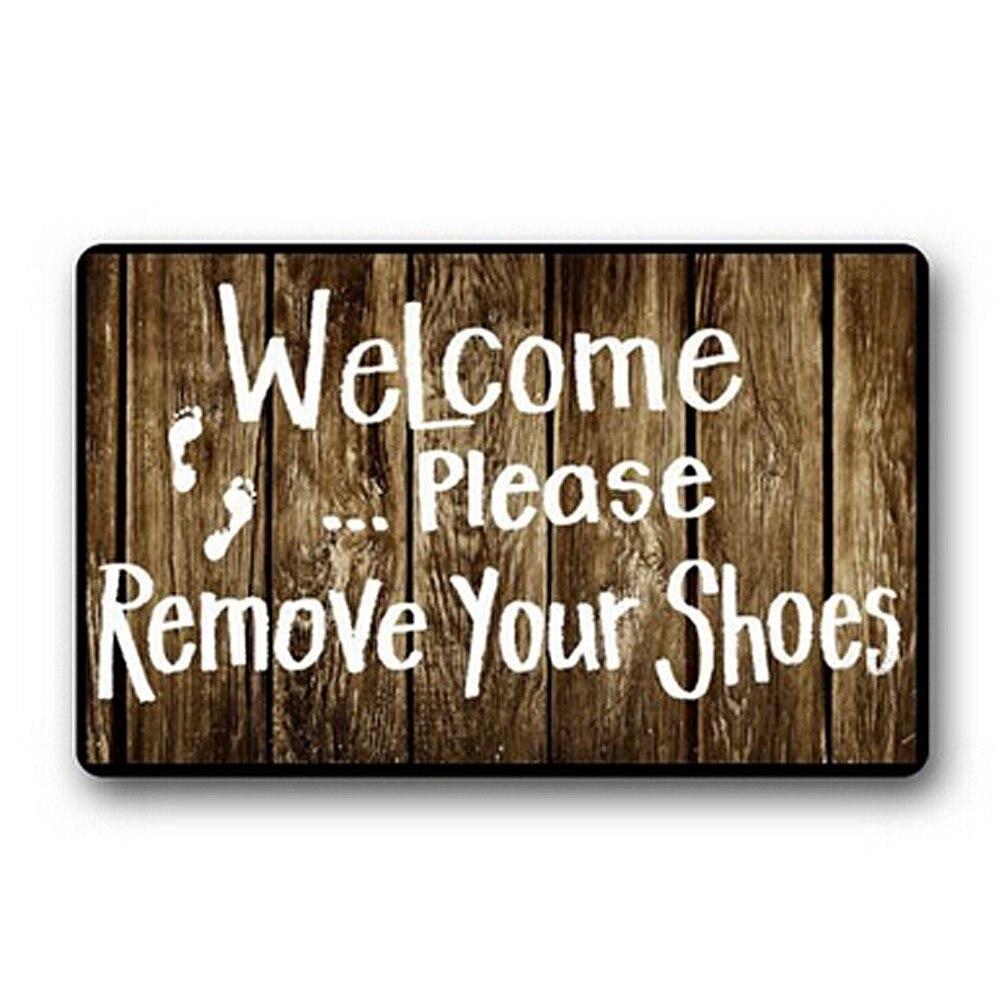 Doormat please remove shoes doormat images : Welcome Please Remove Your Shoes Printed Doormat , Non slip ...