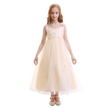 2019 Fashion Flower Girls Dress Children Kids Tulle Long Dress Princess Party Pageant Wedding Bridesmaid Tutu Ball Gown Dress new girls yellow princess tutu dress kids crochet flower tail dress ball gown with headband children wedding cosplay party dress