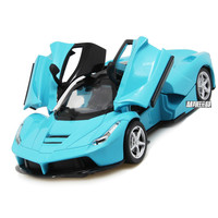 For Ferrary Super Racing Alloy Car Model Pull Back Music Light Open Door Simulation for Rafa Sport Car Toy Model Collection Gift