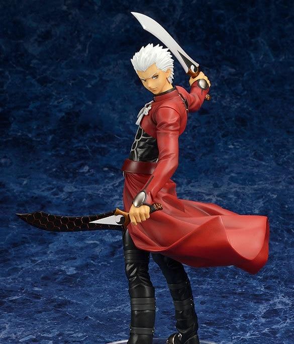 Fate Stay Night Fate Zero Эмия Широ Красный Лучник Рисунок Неограниченный Blade Работы Alter Рисунок ПВХ Фигурку Куклы Игрушки