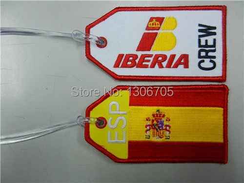 ESP Spanje Vlag Borduren Bagagelabel