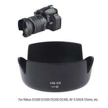 HB-69 Lưỡi Lê Gắn Camera Lens Hood Cho Nikon D3200 D3300 D5200 D5300 DX18-55mm(China)