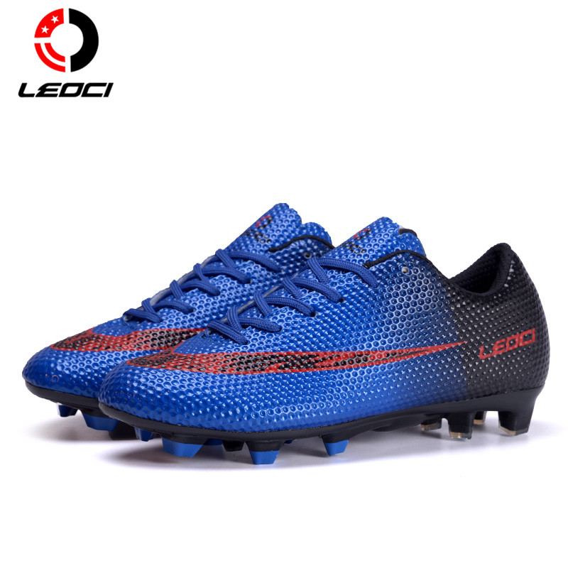LEOCI Men Women Kids Outdoor Football Boots Brand Trainers Sports Shoes Cheap Cleats Sneakers Crampons De Football Size 33-44 tiebao new men outdoor grass soccer shoes cleats for adults children sports football shoes brand football boots male size 35 44