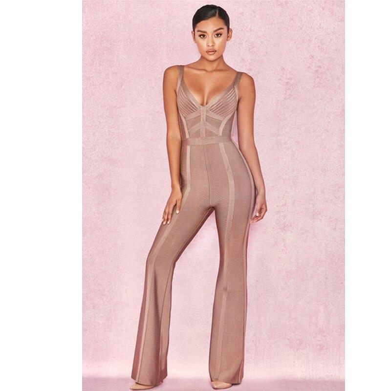 Mode Nouveau Offre Nuit Gros Sexy Corps Club Combinaisons En Celebrity De Femmes Salopette Volants Fête Spéciale Bandage Style À Con EfqfA