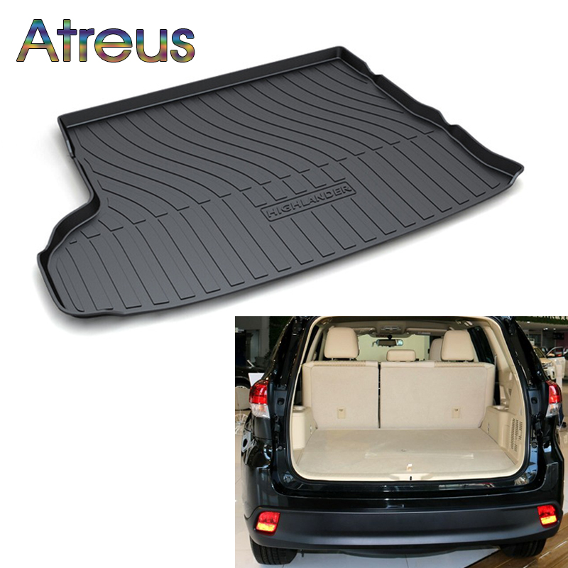 Atreus For 2015 2016 2017 2018 Toyota Highlander Accessories Car Rear Boot Liner Trunk Cargo Mat Tray Floor Carpet Pad Protector atreus for 2015 nissan murano 2016 2017 2018 accessories car rear boot liner trunk cargo mat tray floor carpet pad protector