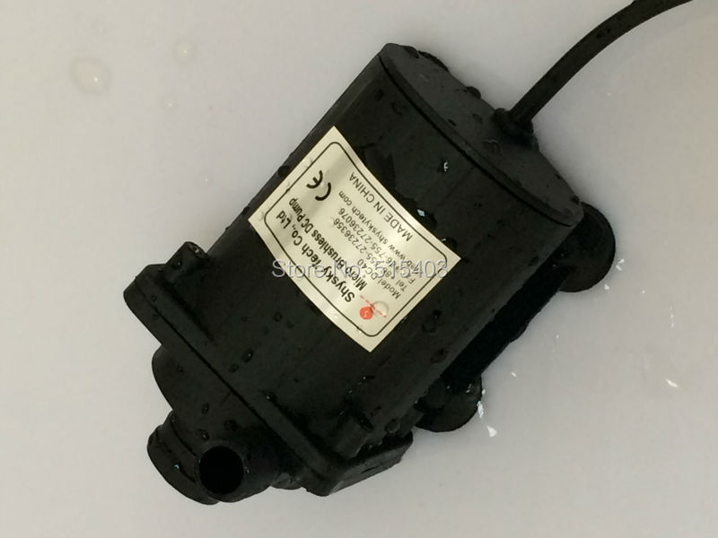 6-24Vdc Mini Solar brushless DC pump Water cooling pump 7.5m 1100LPH Real Mute
