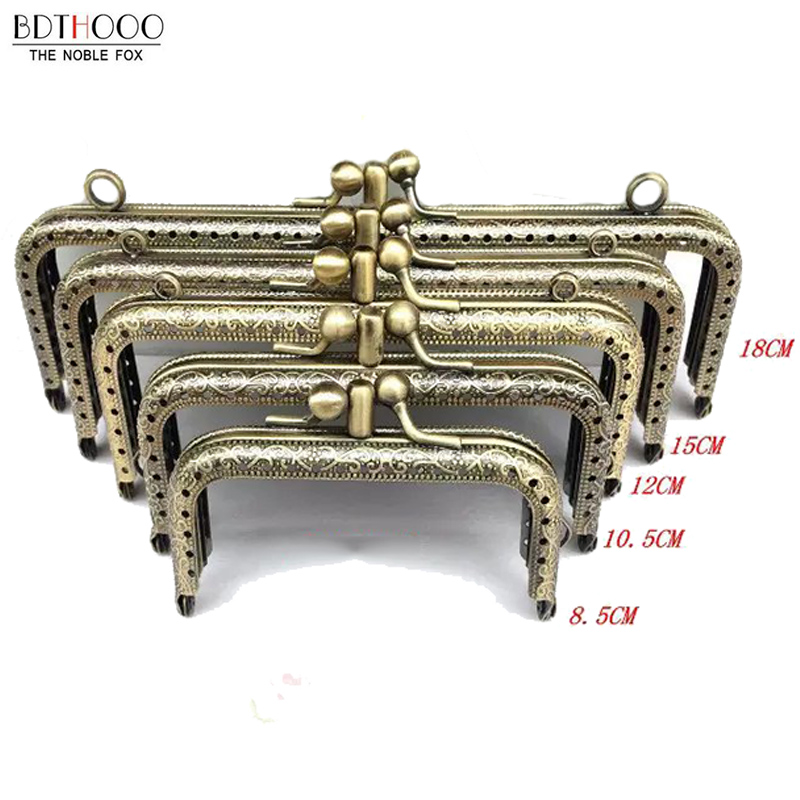 NEW Double Layer DIY Metal Frame Purse For Clutch Coins Bag Handle Kiss Clasp Lock Accessories For Bag 8.5/10.5/12.5/15/18cm